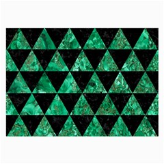 Triangle3 Black Marble & Green Marble Large Glasses Cloth (2 Sides) by trendistuff