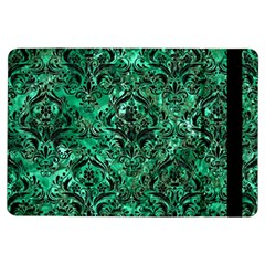 Damask1 Black Marble & Green Marble Apple Ipad Air Flip Case by trendistuff
