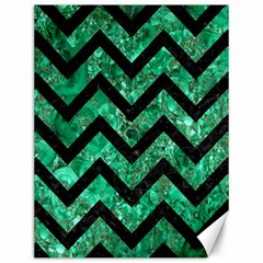 Chevron9 Black Marble & Green Marble (r) Canvas 12  X 16  by trendistuff