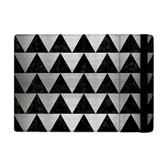 Triangle2 Black Marble & Silver Brushed Metal Apple Ipad Mini 2 Flip Case by trendistuff