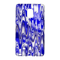 Funky Chevron Blue Galaxy Note Edge by MoreColorsinLife