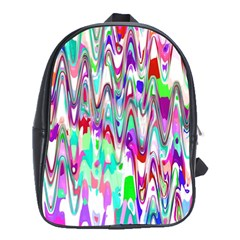 Funky Chevron Multicolor School Bags (xl)  by MoreColorsinLife