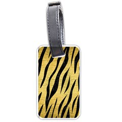Skin3 Black Marble & Gold Brushed Metal (r) Luggage Tag (two Sides) by trendistuff
