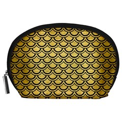 Scales2 Black Marble & Gold Brushed Metal (r) Accessory Pouch (large) by trendistuff