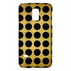 Circles1 Black Marble & Gold Brushed Metal (r) Samsung Galaxy S5 Mini Hardshell Case  by trendistuff