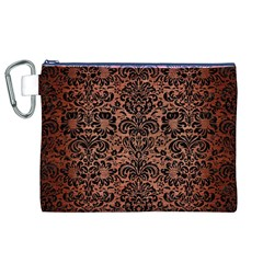 Damask2 Black Marble & Copper Brushed Metal (r) Canvas Cosmetic Bag (xl) by trendistuff