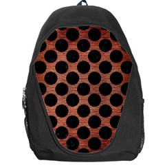 Circles2 Black Marble & Copper Brushed Metal (r) Backpack Bag by trendistuff