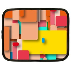 Rounded Rectangles Netbook Case (xl)  by hennigdesign