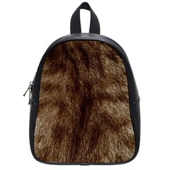 Silber Tiger Fur School Bags (small)  by timelessartoncanvas