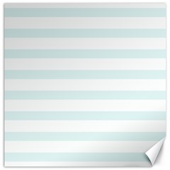Baby Blue And White Stripes Canvas 20  X 20   by timelessartoncanvas