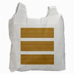 Beige/ Brown And White Stripes Design Recycle Bag (one Side) by timelessartoncanvas