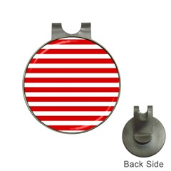 Red And White Stripes Hat Clips With Golf Markers by timelessartoncanvas