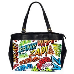 Comic Book Sounds Office Handbags (2 Sides)  by ComicBookPOP