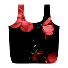 Mauve Roses 4 Full Print Recycle Bags (l)  by timelessartoncanvas