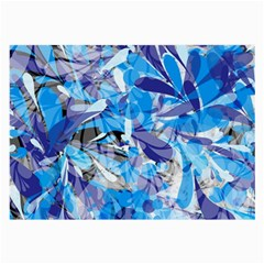 Abstract Floral Large Glasses Cloth by Uniqued