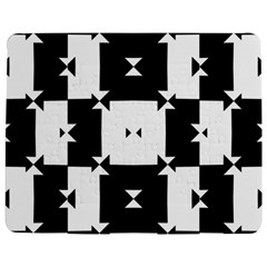 Black And White Check Pattern Jigsaw Puzzle Photo Stand (rectangular) by dflcprints