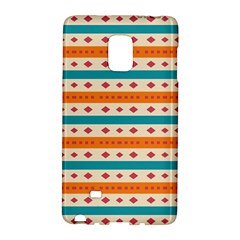 Rhombus And Stripes Pattern      			samsung Galaxy Note Edge Hardshell Case by LalyLauraFLM