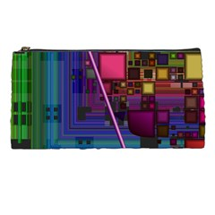 Jewel City, Radiant Rainbow Abstract Urban Pencil Cases by DianeClancy