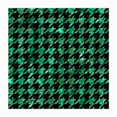 Houndstooth1 Black Marble & Green Marble Medium Glasses Cloth by trendistuff