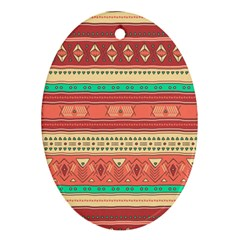 Hand Drawn Ethnic Shapes Pattern Ornament (oval)  by TastefulDesigns