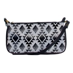 Hand Painted Black Ethnic Pattern Shoulder Clutch Bags by TastefulDesigns