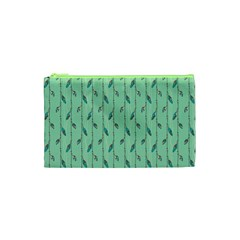 Seamless Lines And Feathers Pattern Cosmetic Bag (xs) by TastefulDesigns