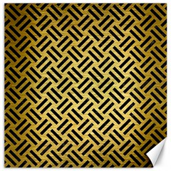 Woven2 Black Marble & Gold Brushed Metal (r) Canvas 20  X 20  by trendistuff