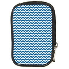 Dark Blue White Chevron  Compact Camera Cases by yoursparklingshop