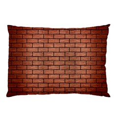 Brick1 Black Marble & Copper Brushed Metal (r) Pillow Case (two Sides)
