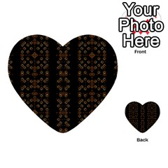Dark Arabic Stripes Multi Purpose Cards (heart)  by dflcprints
