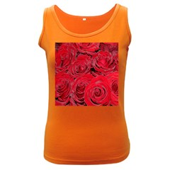 Red Roses Love Women s Dark Tank Top by yoursparklingshop