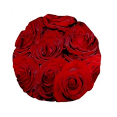 Red Roses Love Standard 15  Premium Flano Round Cushions by yoursparklingshop