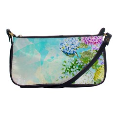 Watercolor Fresh Flowery Background Shoulder Clutch Bags by TastefulDesigns
