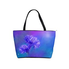 Purple Cornflower Floral  Shoulder Handbags by yoursparklingshop