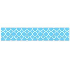 Bright Blue Quatrefoil Pattern Flano Scarf (large)