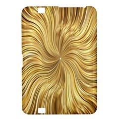 Chic Festive Elegant Gold Stripes Kindle Fire Hd 8 9  by yoursparklingshop