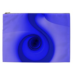 Blue Spiral Note Cosmetic Bag (XXL)  by CrypticFragmentsDesign