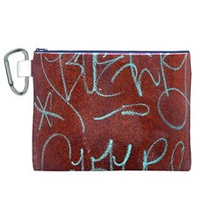 Urban Graffiti Rust Grunge Texture Background Canvas Cosmetic Bag (xl)  by CrypticFragmentsDesign