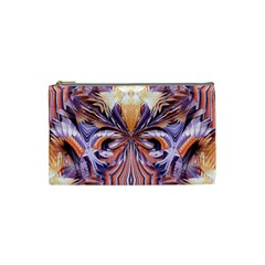 Fire Goddess Abstract Modern Digital Art  Cosmetic Bag (Small)  by CrypticFragmentsDesign