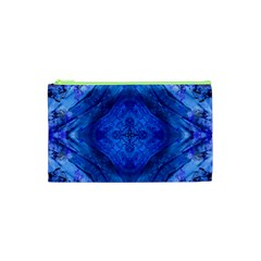Boho Bohemian Hippie Tie Dye Cobalt Cosmetic Bag (xs) by CrypticFragmentsDesign