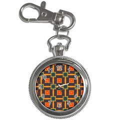 Connected Shapes In Retro Colors                         			key Chain Watch by LalyLauraFLM