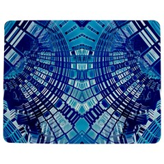 Blue Mirror Abstract Geometric Jigsaw Puzzle Photo Stand (rectangular) by CrypticFragmentsDesign