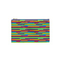 Colorful Stripes Background Cosmetic Bag (small)  by TastefulDesigns