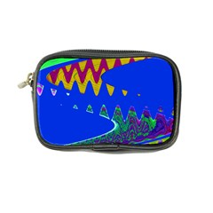Colorful Wave Blue Abstract Coin Purse by BrightVibesDesign