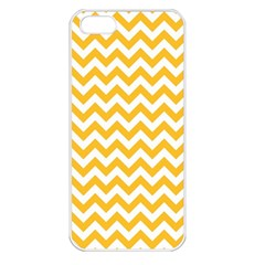 Sunny Yellow & White Zigzag Pattern Apple Iphone 5 Seamless Case (white)