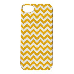Sunny Yellow & White Zigzag Pattern Apple Iphone 5s/ Se Hardshell Case