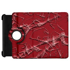 Thorny Abstract,red Kindle Fire Hd Flip 360 Case by MoreColorsinLife