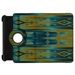 Blue Green Gradient Shapes                                       			kindle Fire Hd Flip 360 Case by LalyLauraFLM