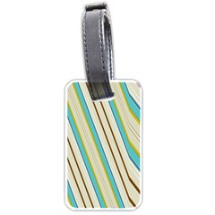 Bent Stripes                                               			luggage Tag (one Side) by LalyLauraFLM