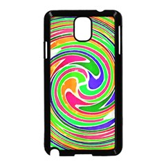 Colorful Whirlpool Watercolors                                                			samsung Galaxy Note 3 Neo Hardshell Case (black) by LalyLauraFLM